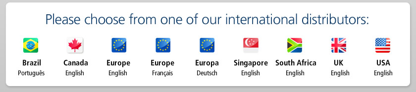 Please choose from one of our international distributors: